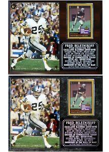 Fred Biletnikoff Oakland Raiders Photo Card Plaque