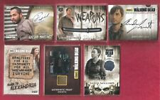 THE WALKING DEAD 14 CARD LOT !!!!!!! AUTOS, WEAPON, AND  WARDROBE CARDS !!!!!!!!