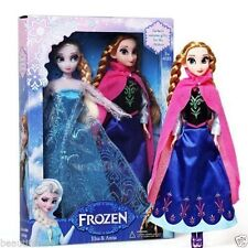 "2PCS Birthday Gift Playset Frozen Princess Elsa&Anna 12"" 30CM Doll Figures toy -"