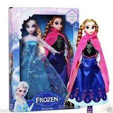 "2pcs Birthday Gift Play Set Princess Elsa&anna 12"" 30cm Doll Figures Toy"