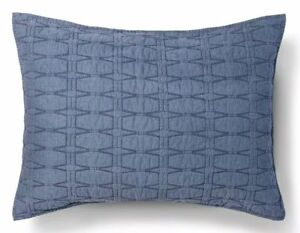 ONEThreshold Blue Diamond Stitch Pillow Sham Standard NEW
