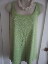 Ladies size 22-24 Evie lime green with white ditsy floral summer top sleeveless