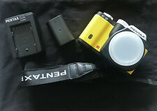 Pentax K-01 body with spare battery, charger and strap.
