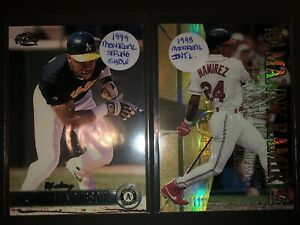 Rickey Henderson Manny Ramirez 1998 1999 Pacific Montreal card show embossed lot