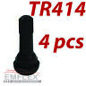 TR414 x 4 Car Rubber Tubeless Tyre Wheel Valves Snap in CAPS+VENTILS