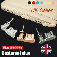 Metal USB Charging Dock & Earphone Port Anti Dust Cover Plug for Android Phone
