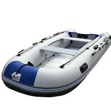 10.9 Feet  Inflatable Boat Sport Tender Dinghy Boat Sport Fishing Raft Blue US