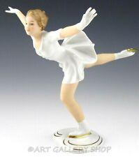 Vintage Wallendorf Germany Porcelain Figurine LADY GIRL FIGURE ICE SKATER Mint