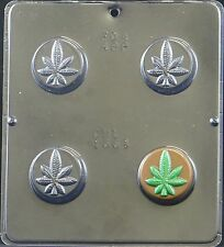 Marijuana Leaf Pot Leaf Chocolate Oreo Cookie Mold 1661 NEW