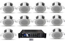 Sistema filodiffusione kit audio 10 diffusori da incasso amplificatore Radio