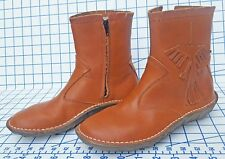 El Naturalista Brown Leather Ankle Boots 6 Frog Shock System Peyote Bird