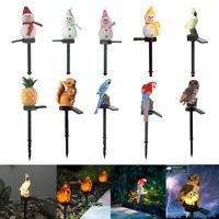LED Solar Powered Garden Lights Owl Animal Rabbit Waterproof  Lawn Ornament Lamp