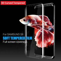 For Samsung Galaxy S8 Full Curved 3D Tempered Glass Screen Protector - CLEAR