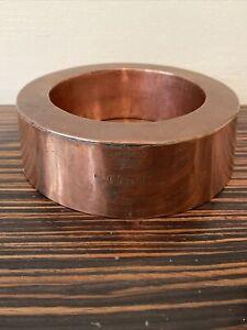 Antique Copper Ring Mould 5cm H x 16 Dia - Crown GIVR  L Engraved Makers Mark