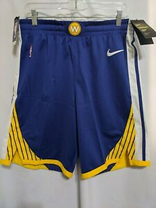 NWT Nike Golden State Warriors Road Rush Blue Mens Aeroswift Shorts Sz L 38R