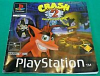 Playstation 1 PS1 - Crash Bandicoot 2 Cortex Strikes Back INSTRUCTION MANUAL