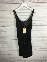 ALLSAINTS BARBARELLA Dress - Size UK8 - Black - NEW - Women's
