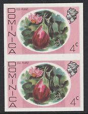 Dominica (s92) 1975 Definitives 4c EGG PLANT Imperforato COPPIA non montato