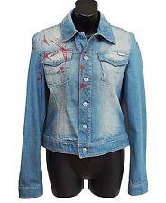 VERSACE Jeans Couture Denim Jacket Metallic Crystal Size S