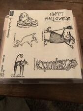 Stampin Up SPOOKTACULAR GREETINGS Halloween Unmounted Set of 6