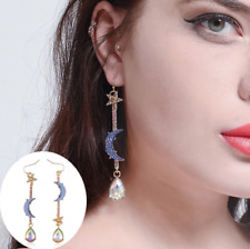 Hot Women Betsey Johnson Fashion Jewelry Blue Moon&star Earrings JEWEL