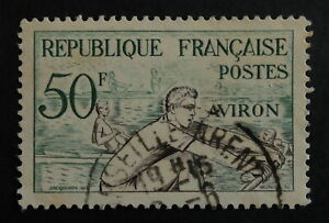 Timbre poste. France. n°964. Jeux olympiques d'Helsinki en 1952.
