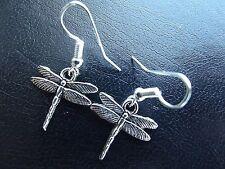 Art Nouveau Dragonfly Earrings    Tibetan Silver   Lead & Nickle Free