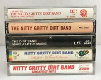 Lot of 5 Nitty Gritty Dirt Band Cassette Tapes