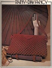 Shoulder Bag w/ Umbrella Holder Rainy Day Fancy #1221 Macrame Purse News II