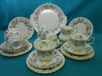 "Royal Albert- English Bone China Tea Set ""Brigadoon"" Pattern Weddings"