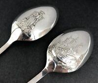 Set og George II style sterling silver spoons Sheffield 1972