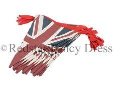 GB Union Jack Vintage Británico Banderines Tela GUIRNALDA 3 metros largo fiesta