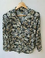 VINTAGE, ORIGINAL 80s  REGENCY LONG SLEEVE FLORAL PRINT BLOUSE SIZE 14