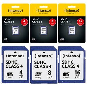 Intenso SD Karte 4 - 128 GB Class 10 4 SDHC SDXC UHS-I Speicherkarte Memory Card