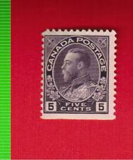 1922  # 112  FNH  KING GEORGE V  ADMIRAL ISSUE  - CANADA  STAMP
