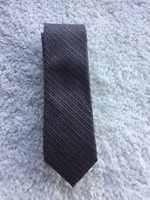 Calvin Klein Men's Neck Tie GRAY WITH ORANGE & BLACK CHECKED STRIPE PATTERN BIN!