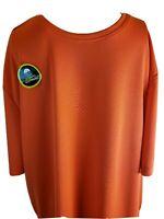 Athletic Works Men's Workout Shirt Orange Size Large 42-44 Driworks