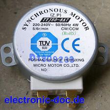 Neu Mikrowelle Drehteller Motor TYJ50-8A7 5/6r/min CW/CCW (Synchronous Motor)
