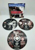 Resident Evil 3 Nemesis & Resident Evil Code Veronica Sega Dreamcast Games - VGC