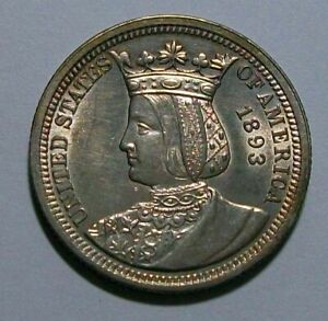 1893 Commem. ISABELLA Columbian Quarter Dollar BOARD of LADY MANAGERS Nice UNC