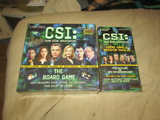 CSI Crime Scene Investigation The Board Game 13+ Boys Girls 2004 & BOOSTER PACK