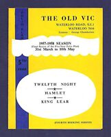 Judi Dench * OLD VIC * John Neville / Coral Browne 1957-58 London Season Flyer