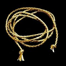 Gürtel Hüftgürtel Bändchen Bandgürtel Taillenband Vintage Flechtgürtel Gold