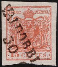 LOMBARDO VENETO - VALDOBBIADENE p.12 15c. n. 6 SPL € 1.650