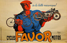 FAVOR BIKE  ART VINTAGE OLD ADVERT A0 poster for glass frame