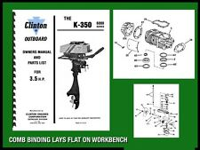 CLINTON K-350 6000 SERIES 3.5 H.P. OUTBOARD MOTOR OWNERS MANUAL AND PARTS LIST