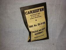 Needle and seat for Studebaker/Carter; 1550743.  Item:  2256