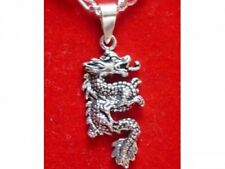 LOOK Sterling silver 925 Fierce Chinese Dragon Pendant Charm