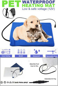Pet Electric Heat Pad Dog Cat Heating Blanket Bed Heated Mat Blue AU PLUG