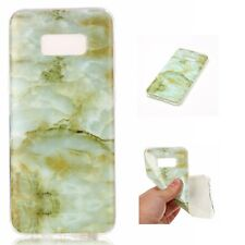 SAMSUNG GALAXY NOTE 8 - TPU Rubber Gummy Phone Case Cover Marble Stone Pattern
